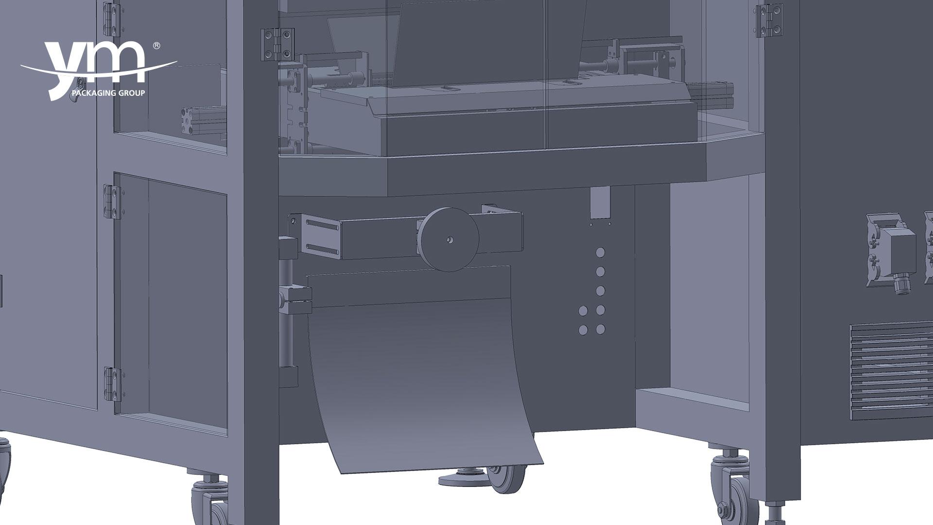Máquina envasadora vertical VM con sistema golpeador
